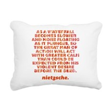 As A Waterfall Rectangular Canvas Pillow
