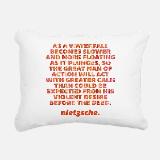 As A Waterfall Rectangular Canvas Pillow