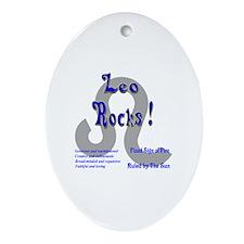 Leo Rocks ! Oval Ornament