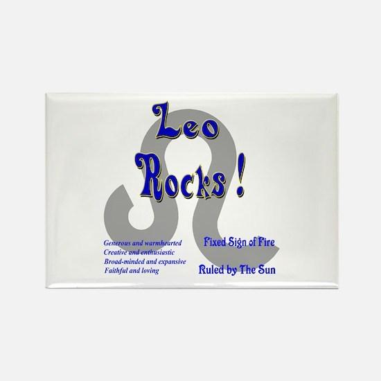 Leo Rocks ! Rectangle Magnet