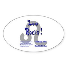 Leo Rocks ! Oval Decal