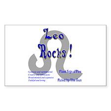 Leo Rocks ! Rectangle Decal