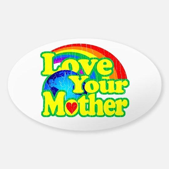 Retro Love Your Mother Bumper Stickers
