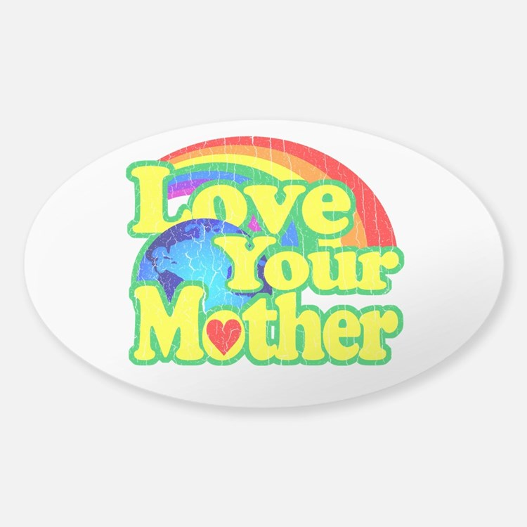 Retro Love Your Mother Decal