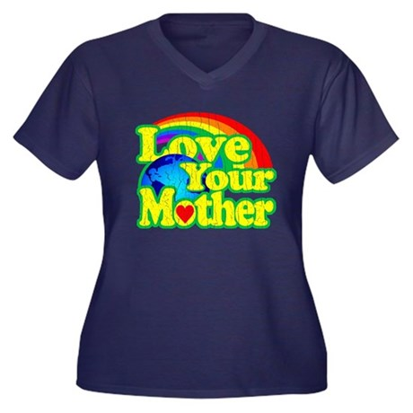 Retro Love Your Mother Plus Size T-Shirt