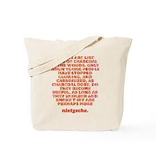 Piles Of Charcoal Tote Bag