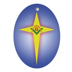 Masonic Xmas Star Oval Ornament