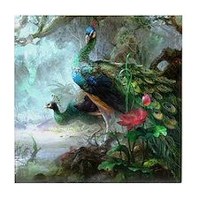 Beautiful Peacock Painting Tile Coaster