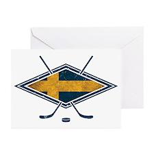 Svensk Ishockey Flag Logo Greeting Cards (Pk of 10