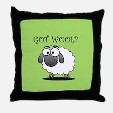 GOT WOOL? Throw Pillow