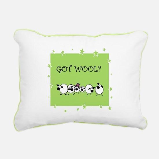 GOT WOOL? Rectangular Canvas Pillow