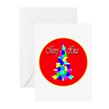 Merry Christmas Modern Christ Greeting Cards (Pack