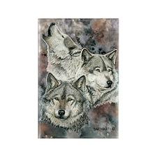Wolf III Rectangle Magnet