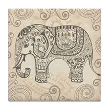 Vintage Elephant Tile Coaster