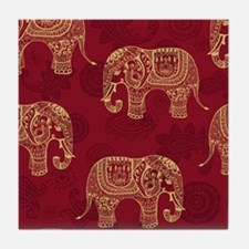 Beautiful Elephant Pattern Tile Coaster