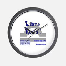 Libra Rocks ! Wall Clock
