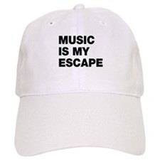Music Is My Escape Baseball Cap