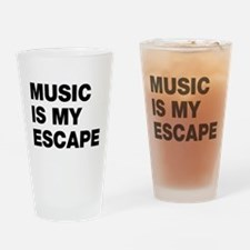 Music Is My Escape Drinking Glass