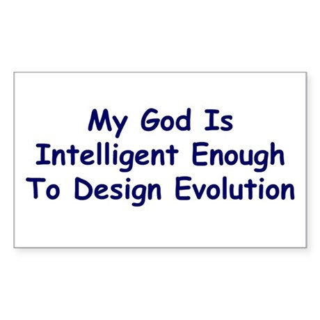 """My God Is Intelligent"" Rectangle Sticker"