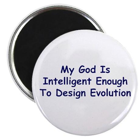"""My God Is Intelligent"" 2.25"" Magnet (10 pack)"