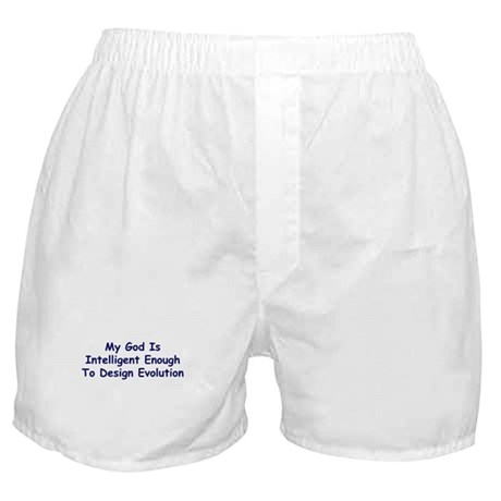 """My God Is Intelligent"" Boxer Shorts"