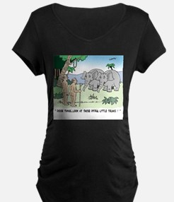 Elephants Pitying Nudists Maternity T-Shirt