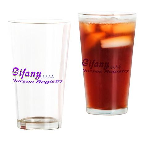 Gifany Nurses Registry Logo Drinking Glass