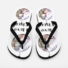 I LOVE DISCO Flip Flops