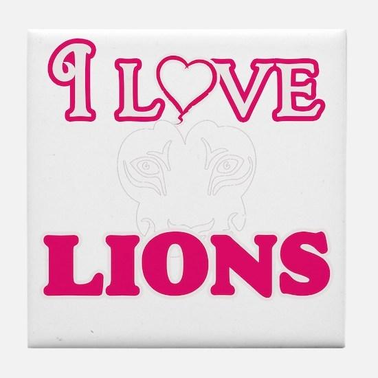 I Love Lions Tile Coaster