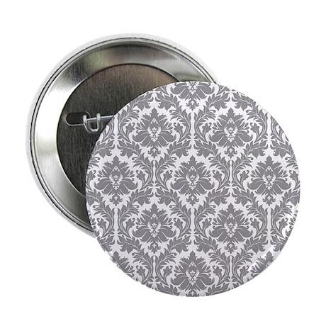 "Pebble Grey Damask 2.25"" Button"