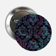 "Damask pattern on purple and blue 2.25"" Button"