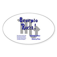 Scorpio Rocks ! Oval Decal