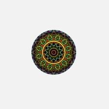 Mandala Eggs and Leaves Mini Button