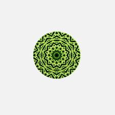 Kiwi Kaleidoscope Mini Button