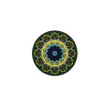 Kaleidoscope Intricate green lines Mini Button