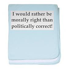 Anti Obama politically correct baby blanket