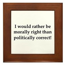 Anti Obama politically correct Framed Tile
