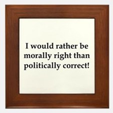 Anti Obama politically correct Framed Tile
