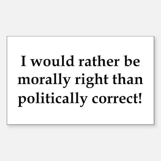 Anti Obama politically correct Decal