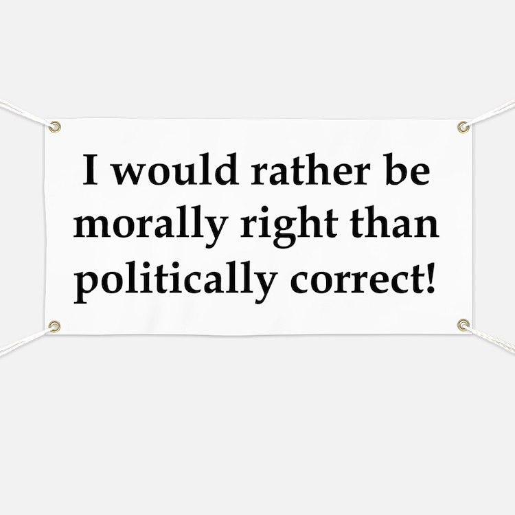 Anti Obama politically correct Banner