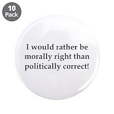 "Anti Obama politically correct 3.5"" Button (10 pac"