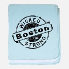 Boston Wicked Strong baby blanket