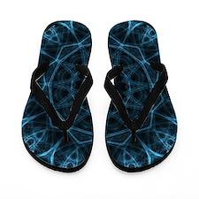 Blue Alien Kaleidoscope Flip Flops