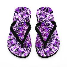 Fly Away Purple mandala Flip Flops