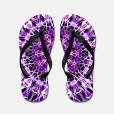 Fly Away Purple mandala Flip Flops