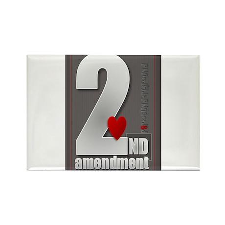 I Heart the 2nd Amendment Rectangle Magnet