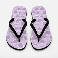 Sunglass pattern in Purple on Flip Flops