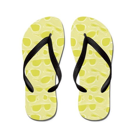 Sunglass pattern in Lime on Flip Flops
