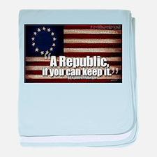 A Republic baby blanket