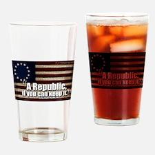 A Republic Drinking Glass